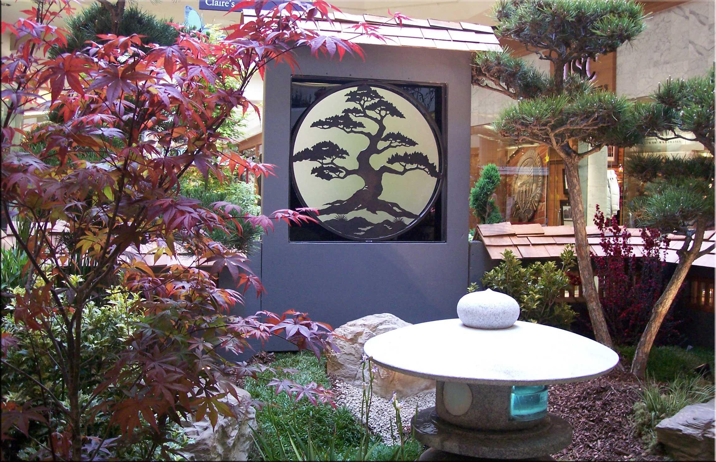 Silhouwest originals metal art by leslie souza tropical art for Japanese garden designs for small gardens